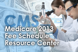 Medicare 2013 Fee Schedule Resource Center