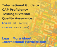 International Guide to CAP Proficiency Testing/External Quality Assurance