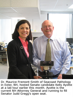 Congressional Lab Tour: Dr. Maury Fremont-Smith Hosts Senate Candidate, Kelly Ayotte