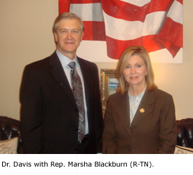 Dr. Davis with Rep. Marsha Blackburn (R-TN).