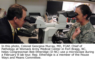 Photo: Womack Army Medical Center Hosts Lab Tour