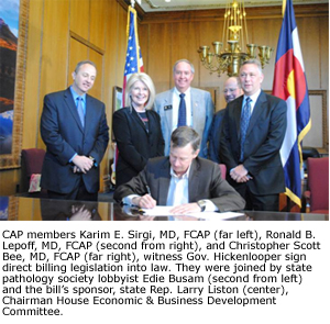 Gov. John Hickenlooper Signs Direct Billing Law