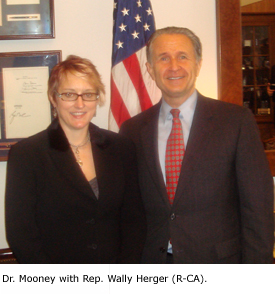 Dr. Mooney with Rep. Wally Herger (R-CA).